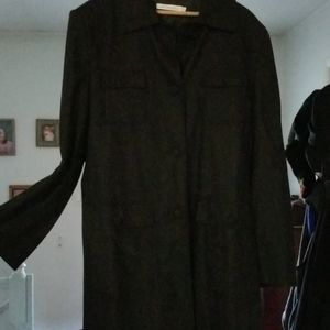 Wool and poly blend coat